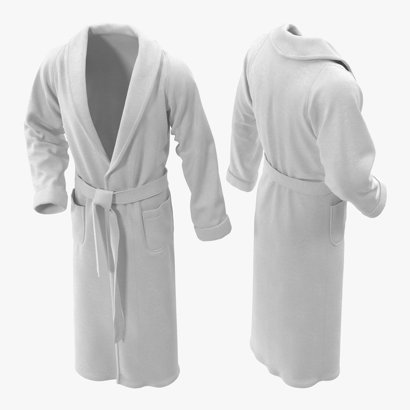 bathrobe modeled 3d model