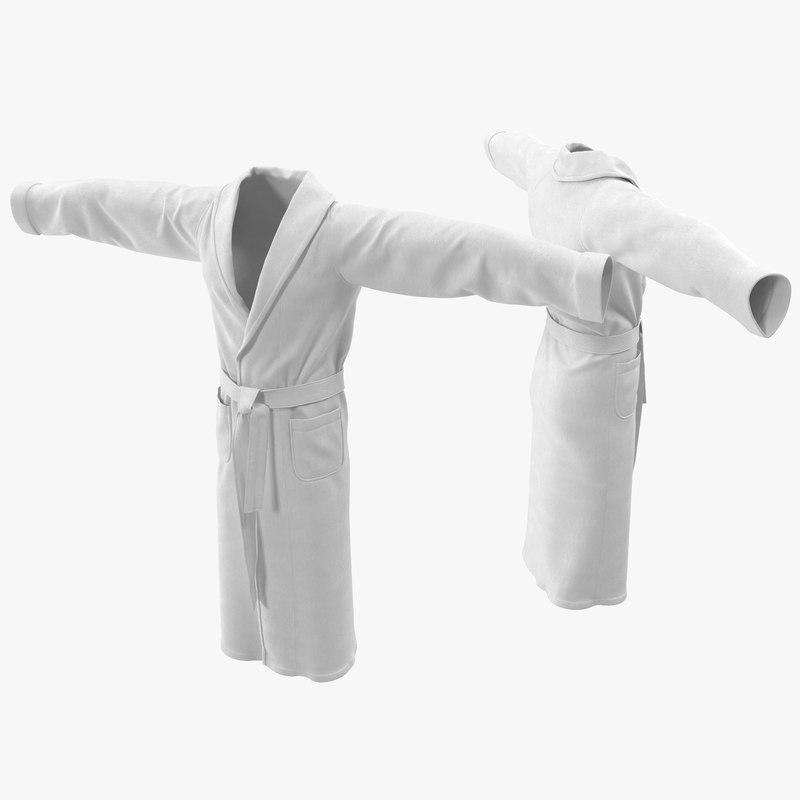 3d bathrobe t-pose model