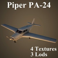 3ds max piper comanche low-poly