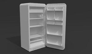 refrigerator retro vintage 3D model