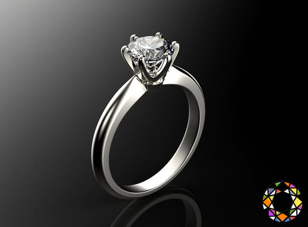 engagement ring gems 3d ma
