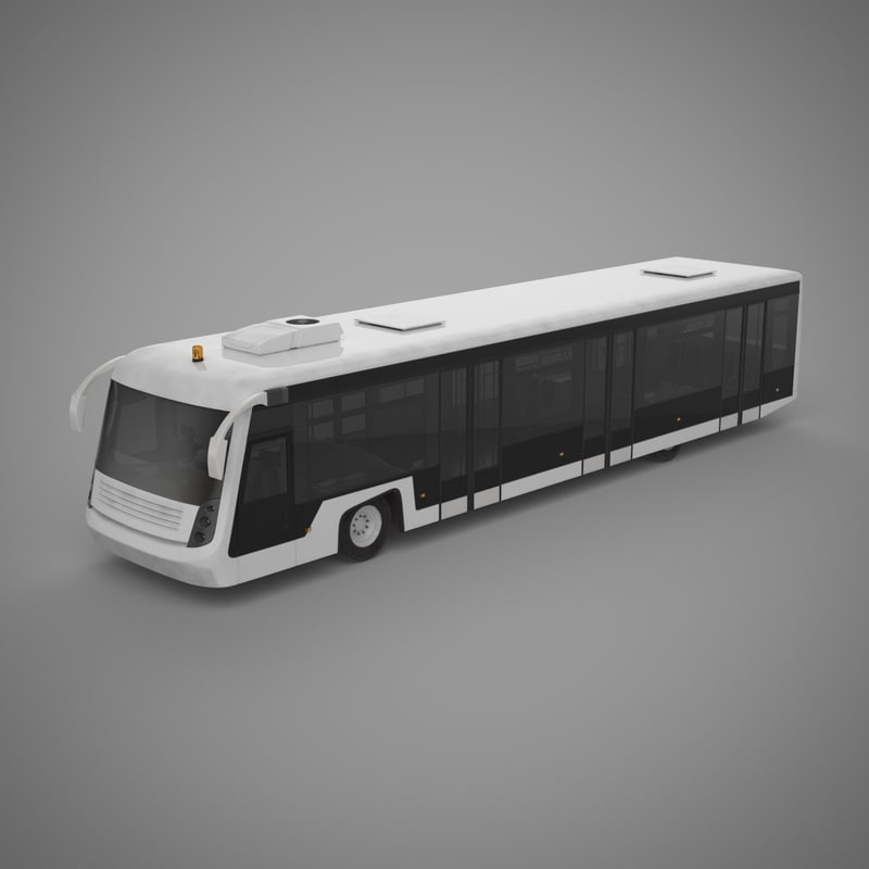 3ds airport shuttle bus 1