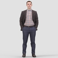 Michael Business Standing - 3D Human Model