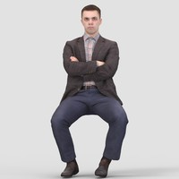 Michael Business Sitting - 3D Human Model
