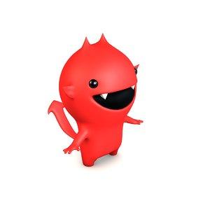 3d cute little devil
