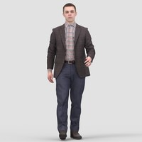 Michael Business Walking - 3D Human Model