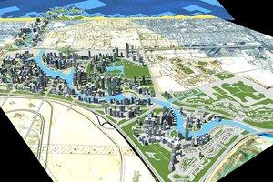 3d dubai business bay model