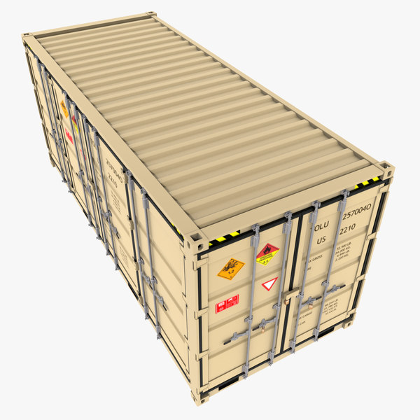 3d iso open shipping container model