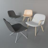 eyes lounge chair 3d model