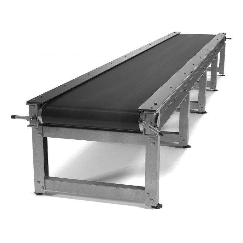 3d 3ds conveyor belt