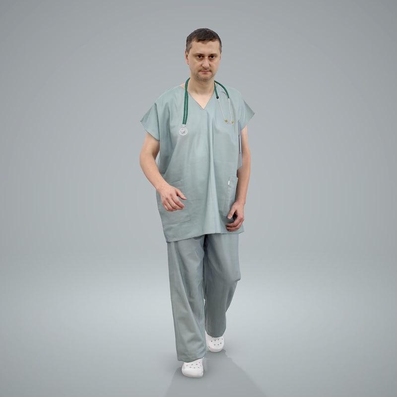 axyz normal human 3d model