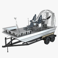 3d airboat trailer
