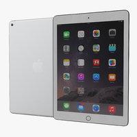 iPad Air 2 Silver 2 3D Model