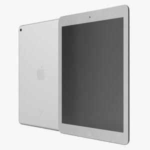 3d model ipad air 2 silver