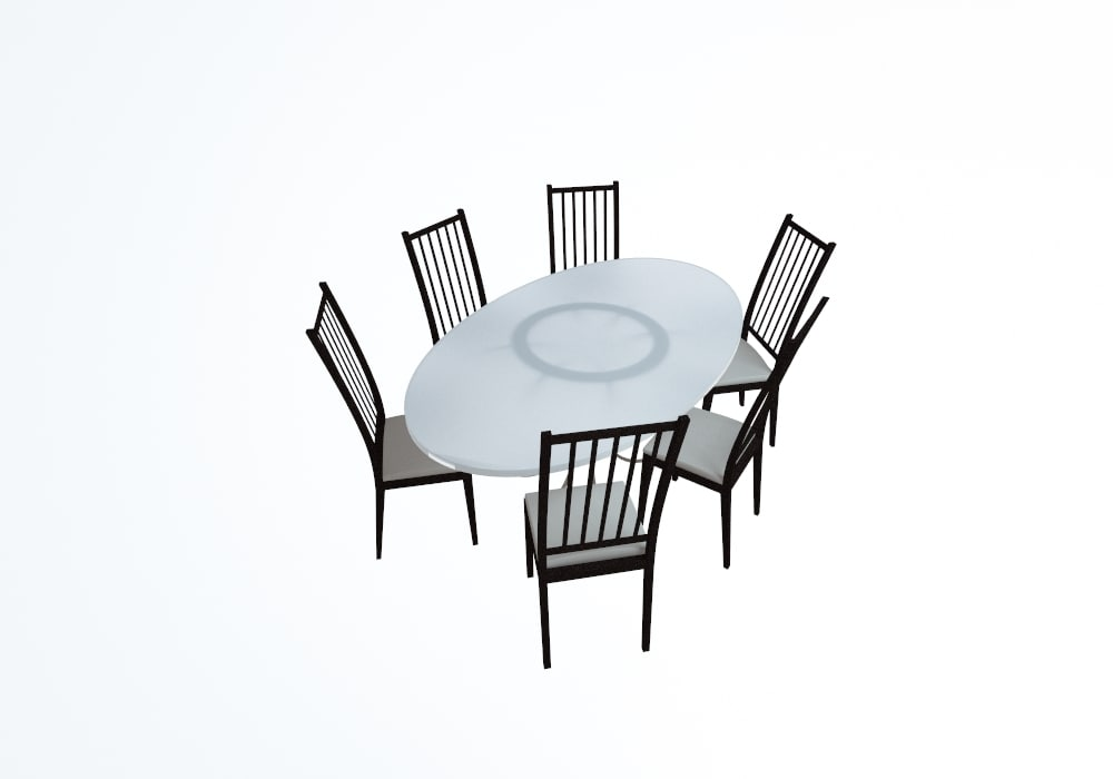 cafe table chairs 3d max