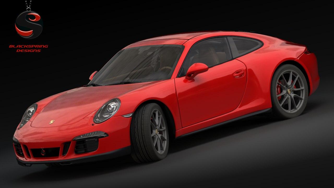 3d porsche 911 carrera 4 model