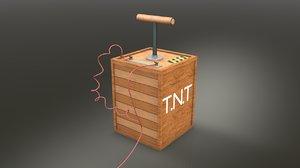 tnt detonator c4d