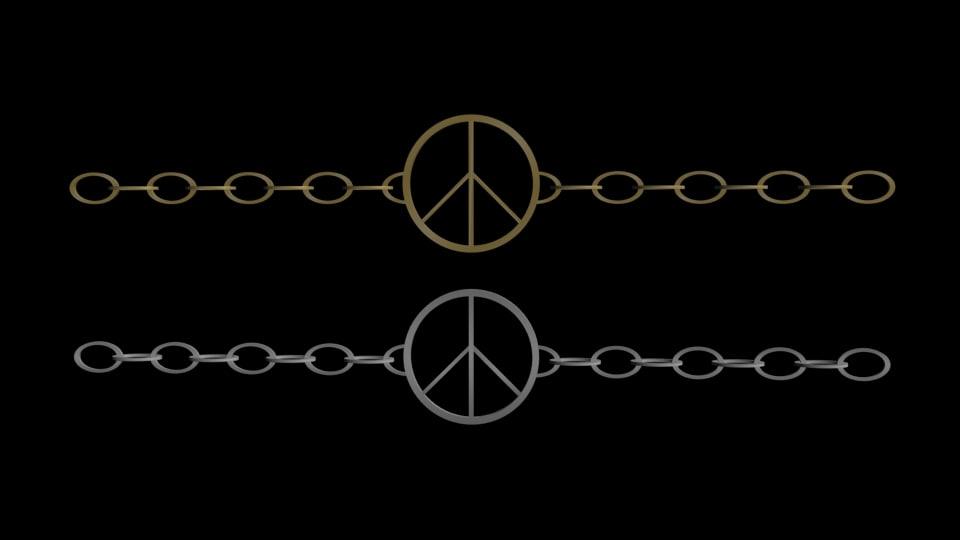 peace bracelet 3d model