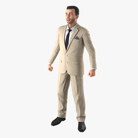 Mediterranean Businessman Rigged 3D Model