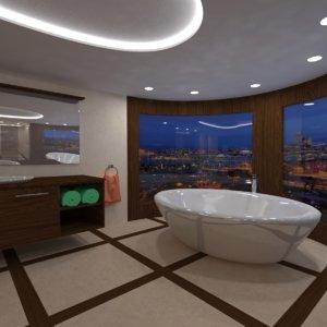 3d bathroom bath room model