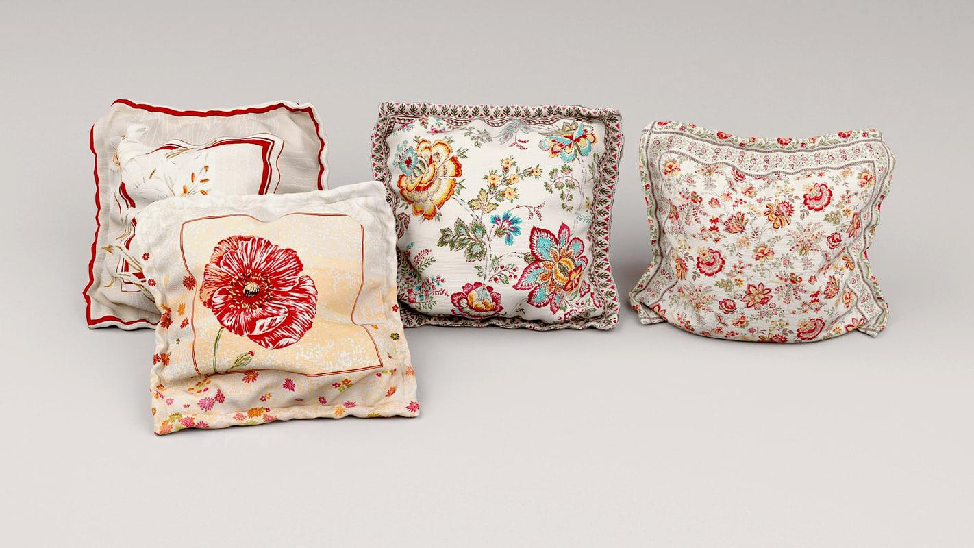 3d model pillows interior
