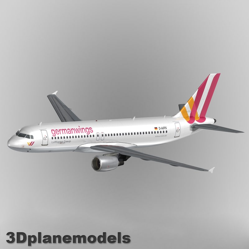 3d airbus a-320 animation model