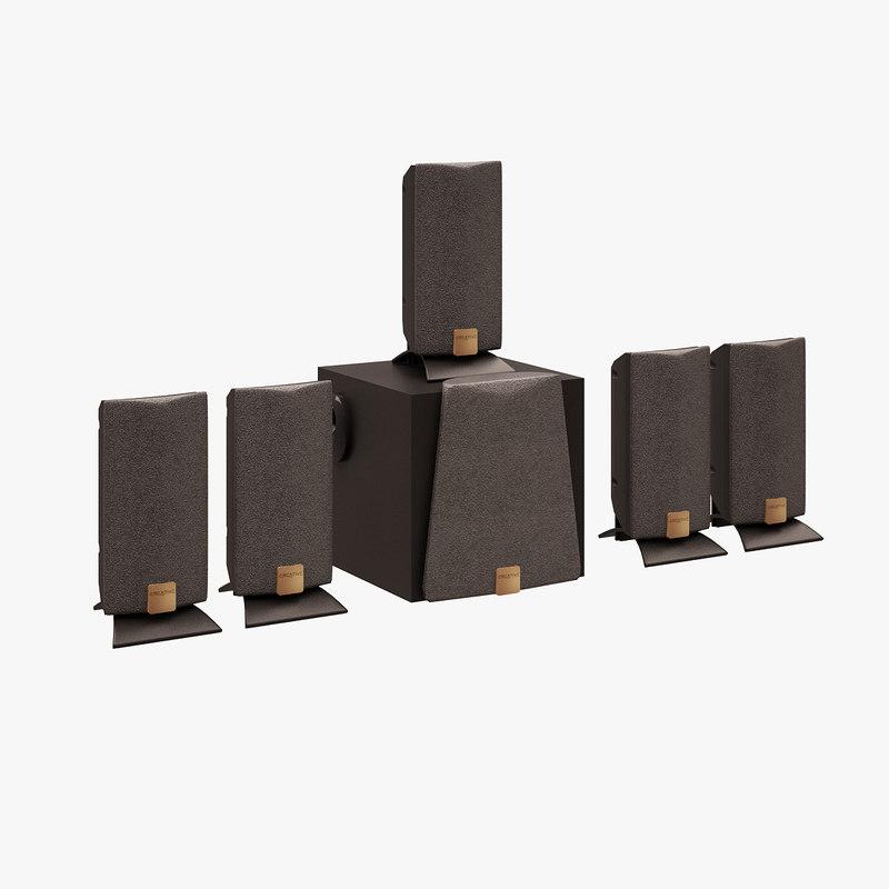3d model creative speaker set