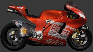 3d custom sport bike ducati desmosedici model