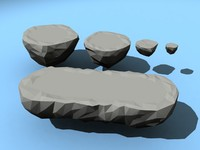 floating platforms low-poly 3d 3ds