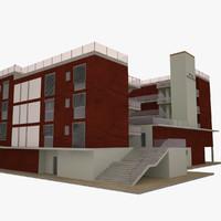 3d modern residential houses model