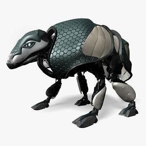 3d model armadillo armor animation robot