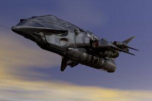scifi military 3d obj