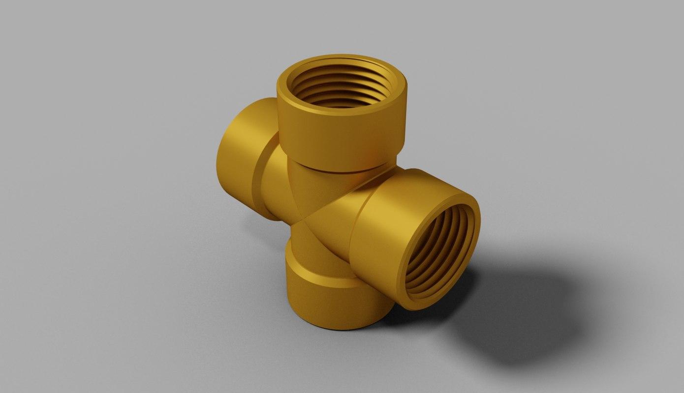 3d plumbing pipe 0 5 inch model
