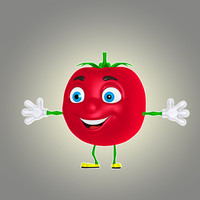 3d cartoon tomato