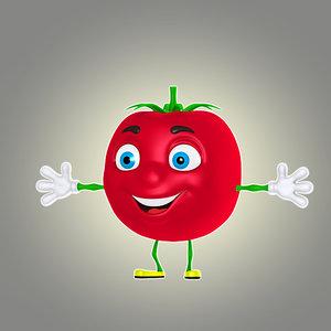 3d cartoon tomato