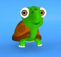 3d cartoon turtle model