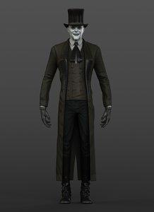 3d model victorian gothic vampire
