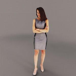 3d woman businesswoman business