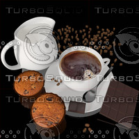 Image Cup of Coffee with Cupcakes