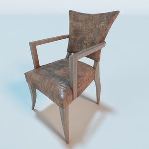 3d adele leather chair