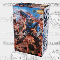 3d model bandai gundam box