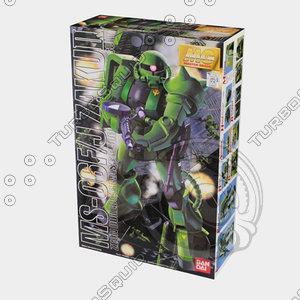 bandai box 3d model