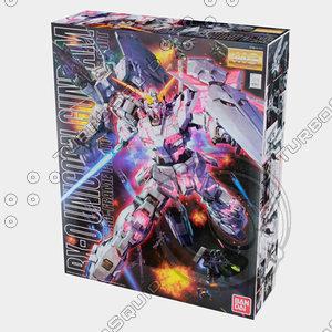3d model bandai gundam box
