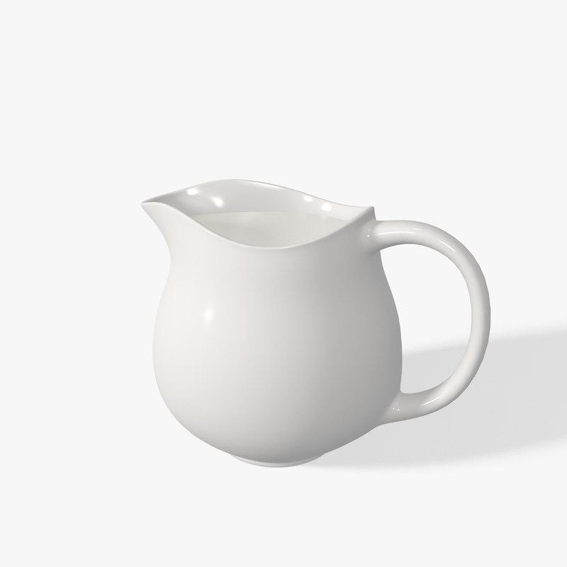 3d milk jug model
