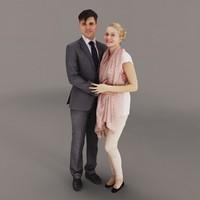 3d model couple scene
