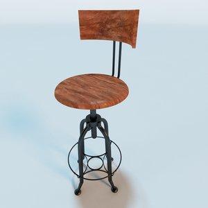 3d andy thorton toledo bar stool model