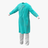 surgeon dress 6 modeled 3d 3ds