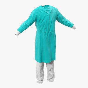 3ds surgeon dress 5 modeled