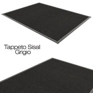 3d tappeto sisal grigio model