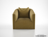 max sloan misayato crescent lounge chair